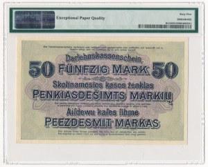 Kowno 50 marek 1918 -B- PMG 65 EPQ - świetna nota