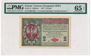 2 marki 1916 Generał -B- PMG 65 EPQ