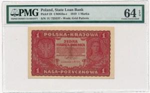 1 marka 1919 - I Serja U - PMG 64 EPQ