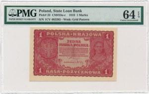 1 marka 1919 - I Serja CV - PMG 64 EPQ