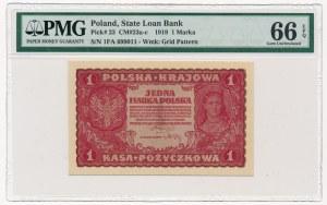 1 marka 1919 - I Serja FA - PMG 66 EPQ