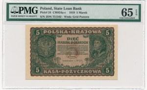 5 marek 1919 - II Serja DN - PMG 65 EPQ