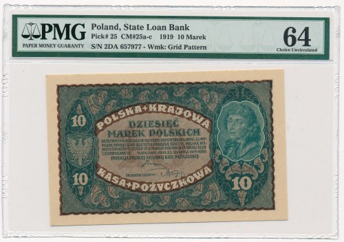 10 marek 1919 - II Serja DA - PMG 64