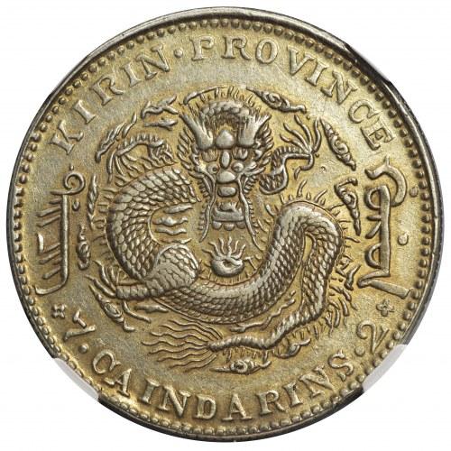 Chiny, 7 Mace 2 Candareens (Dollar) 1905 - NGC AU