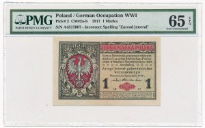 1 marka 1916 Jenerał -A- PMG 65 EPQ