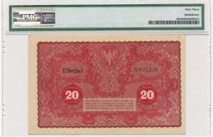 20 marek 1919 - II Serja J - PMG 63 - rzadsza odmiana