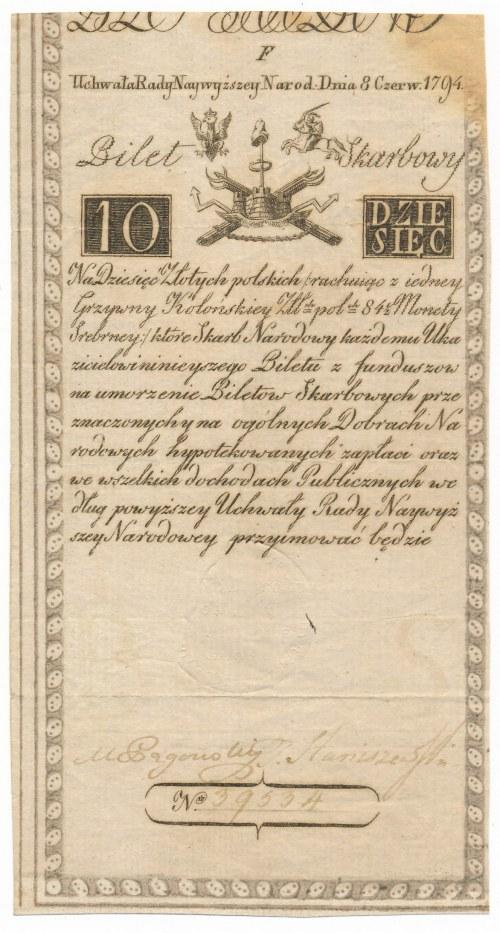 10 złotych 1794 -F- bardzo rzadka seria.