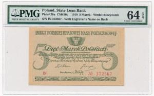 5 marek 1919 -IN- PMG 64 EPQ