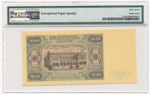 20 złotych 1948 -HM 97... - PMG 67 EPQ - papier PLASTYFIKOWANY