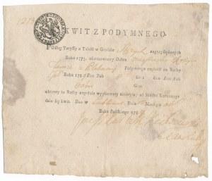 Kwit opłaty z podymnego 1784 rok - Lublin