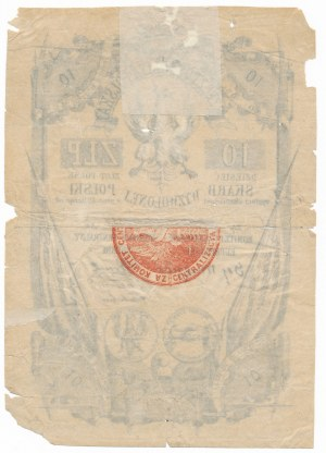 Skarb Wyzwolonej Polski 10 złotych 1852 - RZADKOŚĆ z datą