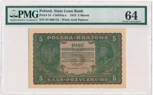 5 marek 1919 - II Serja S - PMG 64