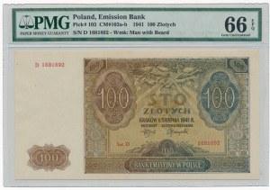 100 złotych 1941 -D- PMG 66 EPQ