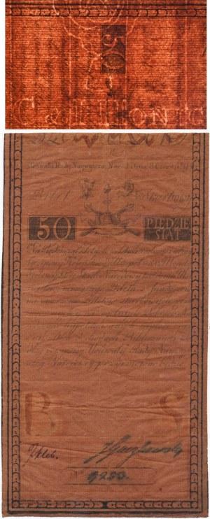 50 złotych 1794 C.I HONIG - bardzo rzadki, pełny znak wodny