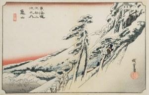 Ando HIROSHIGE (UTAGAWA) (1797-1858), Rozpogodzenie po śnieżycy Kameyama