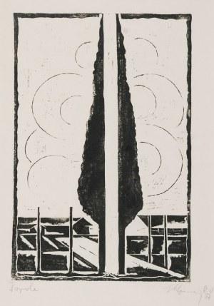 Stefan SZMAJ (1893-1970), Topole V, 1957