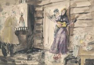 Antoni UNIECHOWSKI (1903-1976), Scena w karczmie