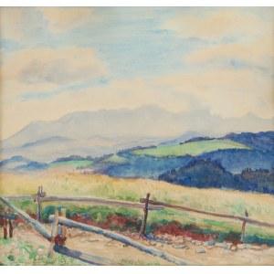 Jadwiga GAŁĘZOWSKA-MALINOWSKA (1876-1948), Pejzaż górski
