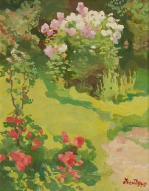 Iwan TRUSZ (1869-1941), W ogrodzie