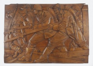 KULCZYŃSKA-BARZYCKA, XX w., Płaskorzeźba z wizerunkami żołnierzy