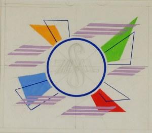 Tadeusz GRONOWSKI (1894-1990), Projekt logotypu - Projekt kompozycji  [ściennej?]