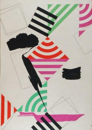 Tadeusz GRONOWSKI (1894-1990), Na białym tle zespół pionowych kwadratów