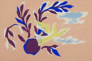 Tadeusz GRONOWSKI (1894-1990), Martwa natura z gołębiem, l. 70 XX w.