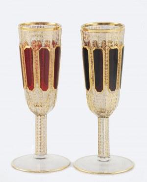 EGERMANN (?), Novy Bor, Czechy, 6 kieliszków do szampana