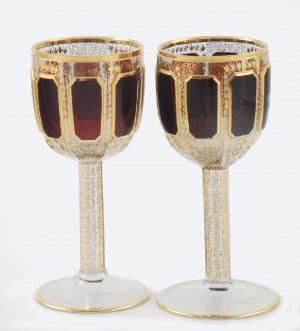 EGERMANN (?), Novy Bor, Czechy, 6 kieliszków do czerwonego wina