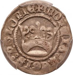 Aleksander Jagiellończyk ( 1501 - 1506) półgrosz, Kraków - PCGS AU58