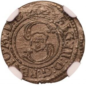 Zygmunt III Waza -szeląg Wilno 1624 - NGC MS63