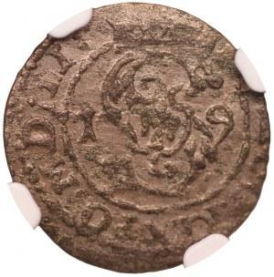 Zygmunt III Waza - szeląg Wilno 1619 - NGC MS60
