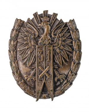 Odznaka 31 Pułk Artylerii Lekkiej