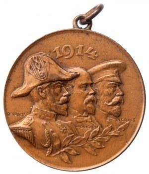 Medal na sojuszu między Rosją, Wielką Brytanią i Francją, 1914 r.