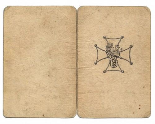 Legitymacja do odznaki 18 Pułku Ułanów Pomorskich