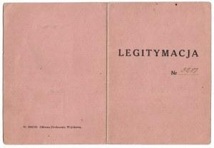 Legitymacja do Odznaki Pamiątkowej 21 Warszawskiego Pułku Piechoty