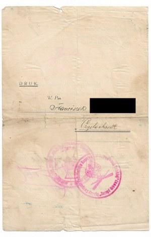 Zawiadomienie o przyznaniu Krzyża Waleczności b. Armii Ochotniczej Sprzymierzonej gen. Bułak-Bałachowicza