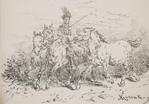 Juliusz KOSSAK (1824-1899), Trójka koni krakowskich