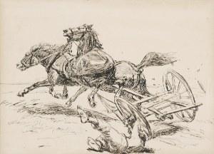 Józef CHEŁMOŃSKI (1849-1914), Konie poniosły, ok. 1889