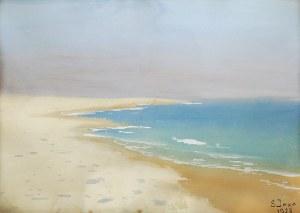 Soter JAXA-MAŁACHOWSKI (1867-1952), Plaża - Nad Bałtykiem, 1928