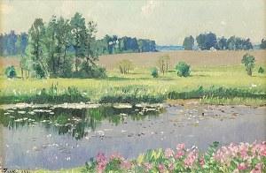 Stanisław ŻUKOWSKI (1873-1944), Pejzaż z okolic Podoroska, 1938