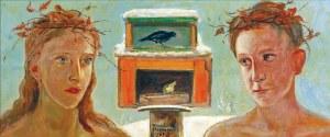Wlastimil HOFMAN (1881-1970), Dzieci przy karmniku dla ptaków, 1960