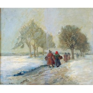 Władysław BOŃCZA-RUTKOWSKI (ok. 1840-1905), W drodze do miasta, 1903