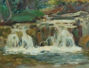 Mieczysław SERWIN - ORACKI (1912-1977), Wodospad w Korbielowie na potoku Glinna, 1960