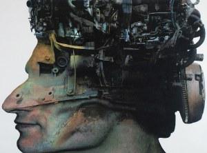 Zdzisław BEKSIŃSKI (1929-2005), Twarz z profilu - Bez tytułu