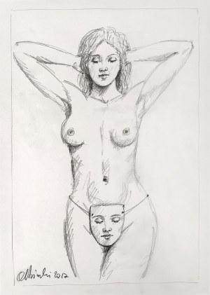 Rafał Olbiński (Ur. 1943), bez tytułu (szkic do obrazu), 2017