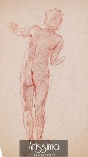 Józef Mehoffer (1869–1946), Akt męski (praca dwustronna)