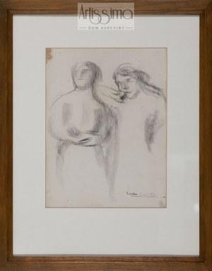 Eugène Carrière (1849–1906), Dwie postacie