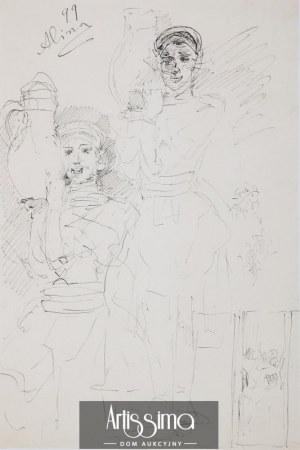 Jacek Malczewski (1854–1929), Alina – szkic, 1899