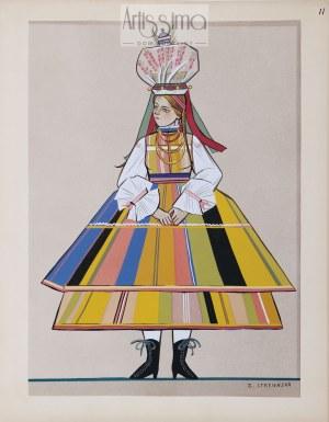 Zofia Stryjeńska (1894–1976), Kobieta w stroju łowickim, 1939*